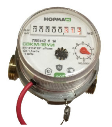 Счетчик воды СВКМ-15 УИ (110 мм)с комплектом подключен (импульс)  9637