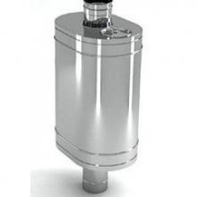 Бак на трубе для печи 60л.ДУ120,нержав,0.8 мм.(3/4)   8968