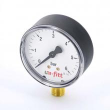 Манометр радиальный 10бар,Д63мм,1/4Н Uni-Fitt   8984