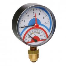 Термоманометр радиальный 0-4 АТМ.0-120 (258)  6272