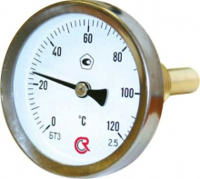 Термометр 100 мм(осевой) ТБП100/50ТЗ 1/2(0+160)С-2,5     9138