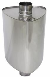 Бак на трубе для печи Урал 60л.ДУ115,нержав,0.8 мм.(3/4)   10157
