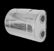Бак для теплообменника Тритон 60л.,0.8 мм.,горизон,нержав,лев,(3/4) нов(пер)  10312