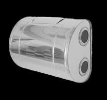 Бак для теплообменника 80л.,0.8 мм.,горизонтальный, AISI 439 (штуцер 3/4)   10564
