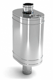 Бак на трубе для печи 50л.ДУ115,AISI,439/0.8 мм.(3/4)   10682