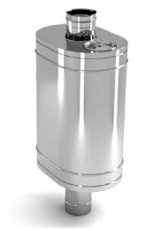 Бак на трубе для печи 80л.ДУ115,AISI,439/0.8 мм.(3/4)   10683