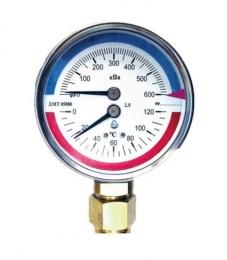 Термоманометр ДМТ 05080 1,6 МПа-0-150-2,5   3671