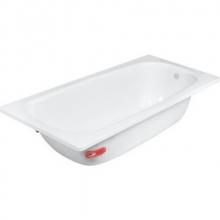 Ванна стальная с антибак.покрытием DONN VANNA105*65*35,5  (бел.орхидея) б/р с о/п DV-13001  7005